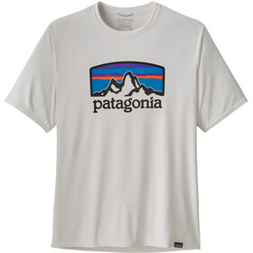 Patagonia Cap Cool Daily Graphic T-Shirt Heren, fitz roy horizons/white